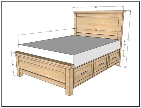 queen bed frame plans queen bed frame with drawers plans beds home design