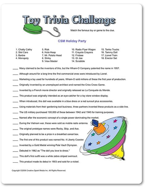 printable games for the office printable toy trivia challenge apple jack party