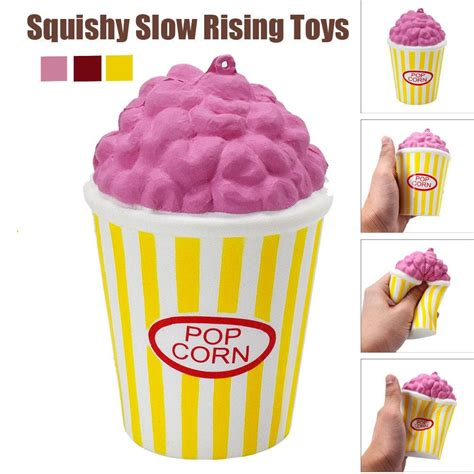 Squishy Popcorn Yellow popcorn kawaii squishy jumbo rising scented squishies squeeze easter stress relief