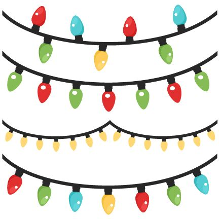 christmas lights cutting lights scrapbook clip cut outs for cricut svg cut files free svgs