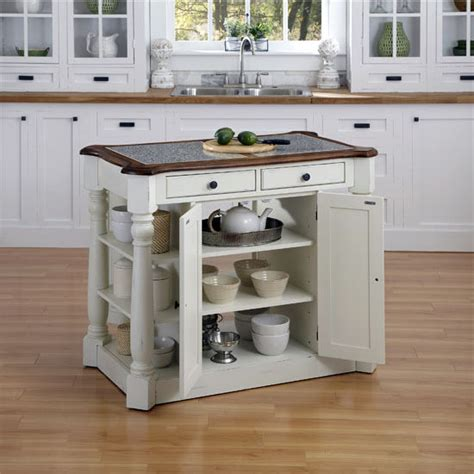 home styles americana kitchen island with granite top home styles americana granite kitchen island in oak white