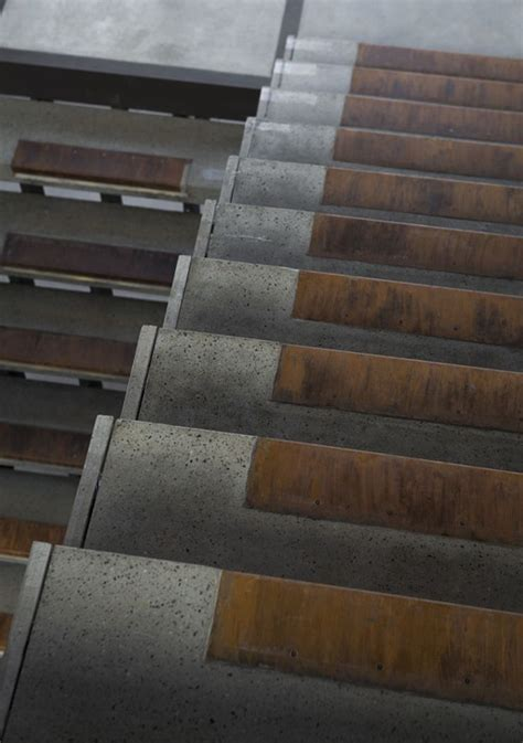 house boz stairs  square lifestyle design design interior architecture steel concrete