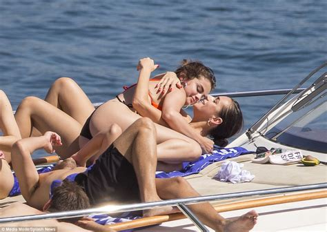 boats and bikinis selena gomez seen in sydney on luxury boat revealing