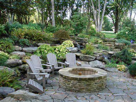 fire pit  seating area rustic patio cleveland