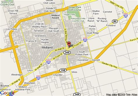 midland texas on map map of midland midland