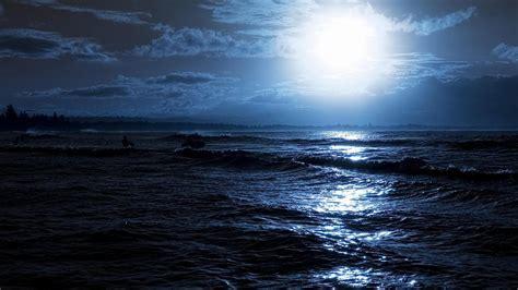 Ночь в море рисунки