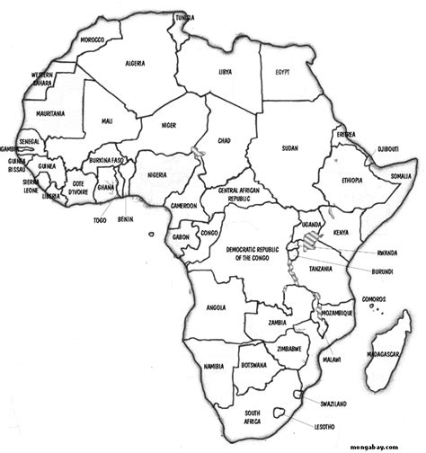 printable map africa countries printable map of free printable africa maps free