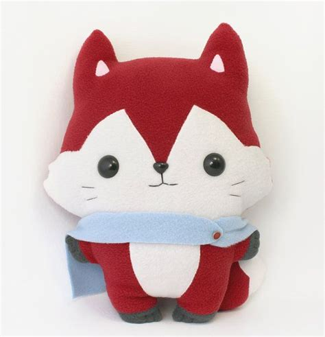 Bantal Fox pdf sewing pattern fox stuffed animal easy beginner