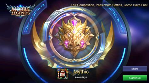 mythic mobile legend needless to say the climb from legend mythic was