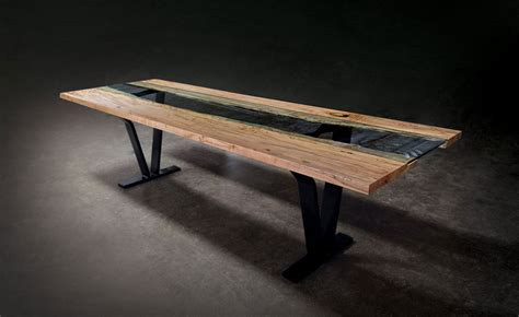 Black Glass Dining Room Table by Colorado Live Edge Maple And Glass Dining Table Sentient