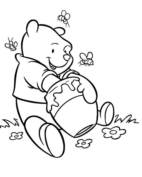 honey bear coloring pages pooh coloring pages delicious honey cartoon coloring
