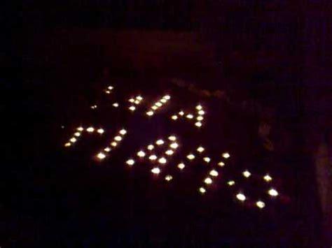 sorpresa con candele scritta con candele x iaia