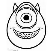 Monsters University  Mike Wazowski Coloring Page