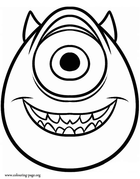printable coloring pages monsters university monsters university mike wazowski coloring page
