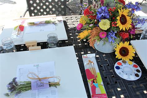 paint nite supplies a flower about flowers plants gifting