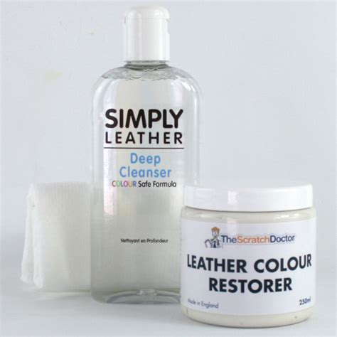 White Leather Cleaner white leather cleaner colour restorer restoration kit