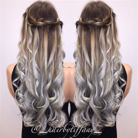 silver brown hair waterfall braid 7 free hair color pictures