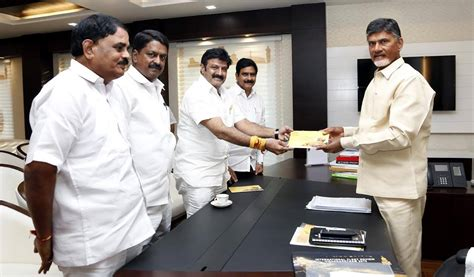 actor vijay annual income balakrishna met cm in vijayawada today and extended the