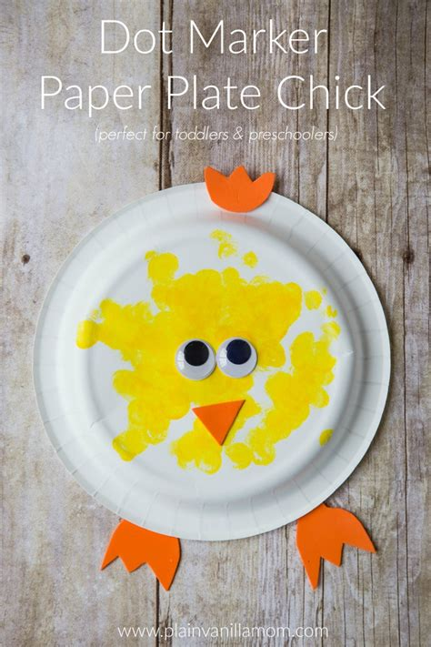Crafts With Paper And Markers - dot marker paper plate plain vanilla