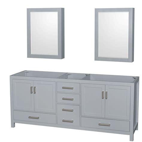 wyndham collection medicine cabinet wyndham collection sheffield 80 in vanity cabinet with