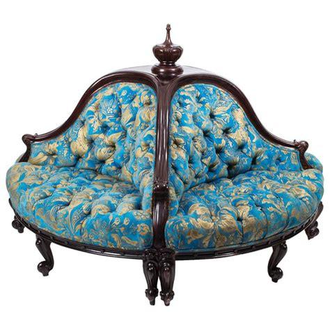 victorian settee antique antique victorian mahogany conversation settee circa 1880