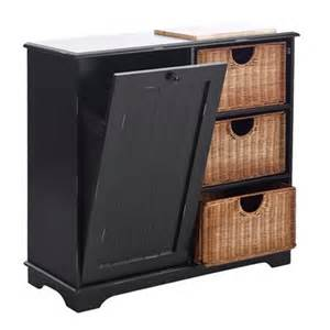southern enterprises atg trash bin storage table kitchen