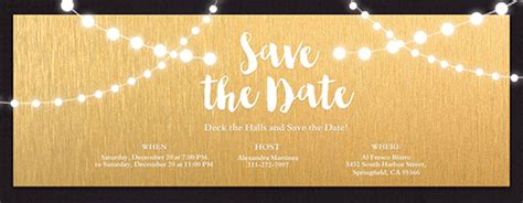free save the date card templates gold theme birthday save the date invitations evite
