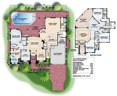 mediterranean style floor plans mediterranean houseplans home design wdgf2 4496 g 13282