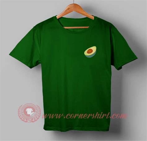 Avocado Pocket pocket avocado custom design t shirts custom t shirt design