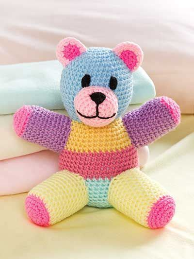Patchwork Toys Free Patterns - patchwork teddy crochet pattern from e