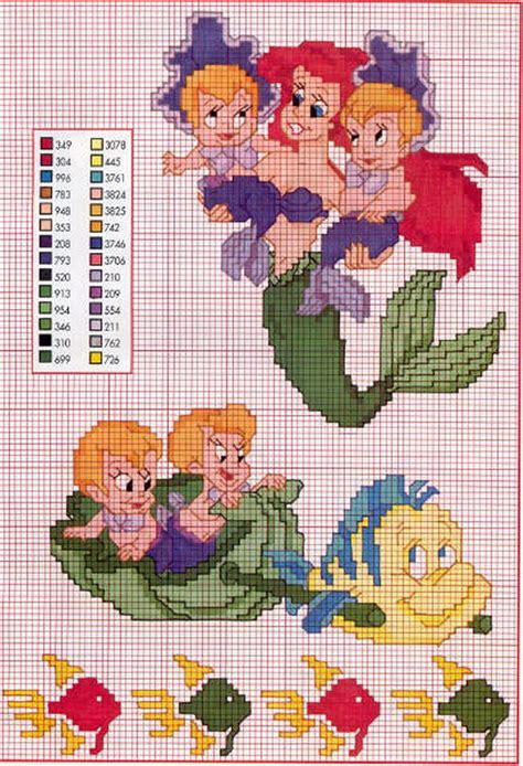 xsd pattern special characters 38 best cross stitch the little mermaid images on
