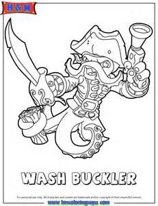 free coloring pages of wash buckler skylander