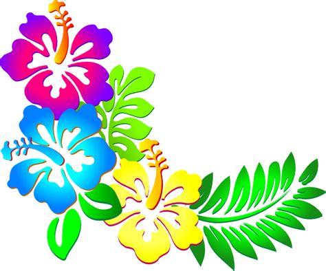 printable luau flowers luau flowers clip art borders free clipart best