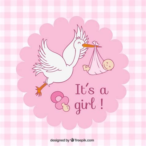 Pics Of Baby Showers by Pink Checked Baby Shower Card Vector Free