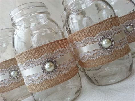 burlap and lace centerpieces 17 best ideas about jar burlap on bridal