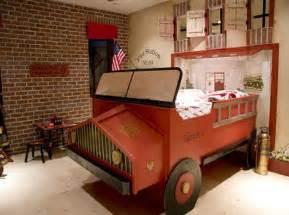 Fire Truck Bedroom Antique Fire Truck Themed Red Boys Room Interior Design