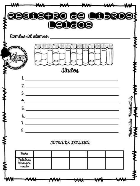 Maravilloso registro de libros leídos | Material Educativo