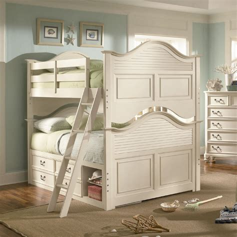 antique white bunk beds retreat in antique white bunk bed by lea children s furniture