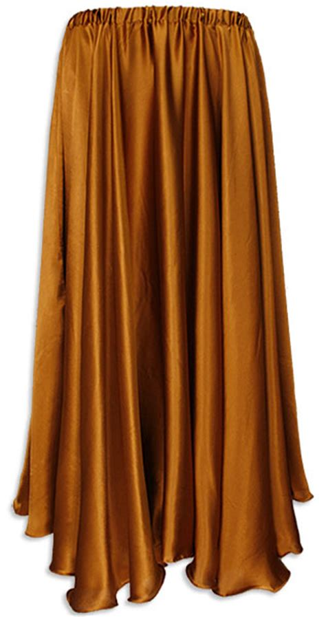 belly dancer pleated circle skirt copper satin at