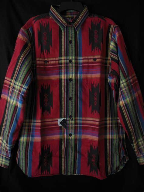 aztec pattern button up shirt polo ralph lauren mens button down southwest multi aztec