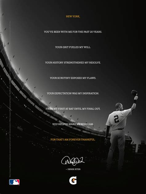 ad of the day gatorade s epic farewell to derek jeter