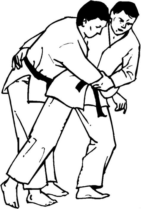 Judo Coloring Pages Coloringpages1001 Com Photo Coloring Page