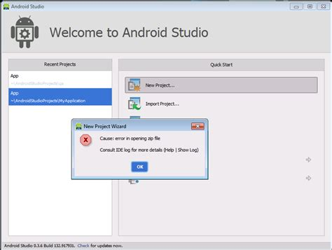 zip file opener for android cause error in opening zip file android studio stack overflow