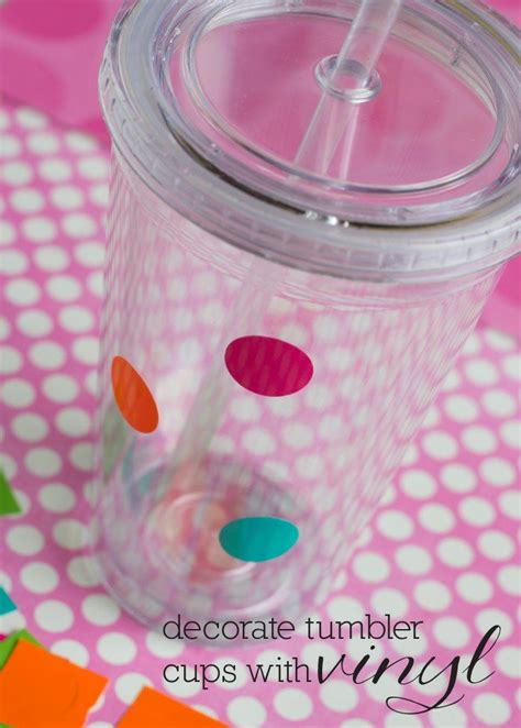 printable vinyl on tumblers how to decorate tumbler cups with vinyl a diy tutorial