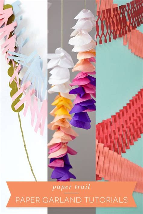 Paper Garland - 25 best ideas about paper trail on