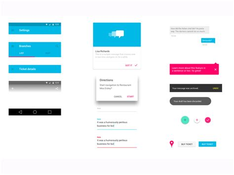 google design ui kit material design by google sketch freebie download free