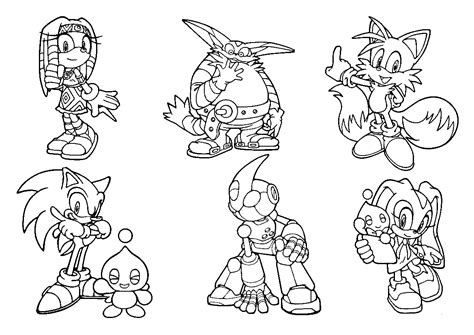 sonic coloring book all your favorite sonic characters books sonic coloring pages coloring