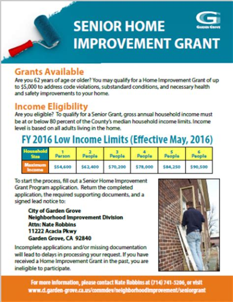 senior home improvement grant city of garden grove
