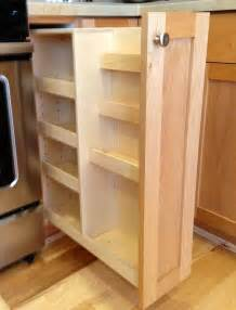 Pull Out Racks For Kitchen Cabinets by Handmade Pull Out Spice Rack By Noble Brothers Custom