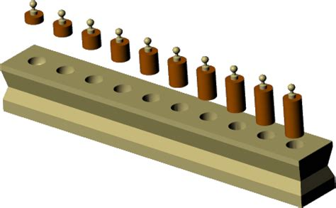 the cylinders and solid insets